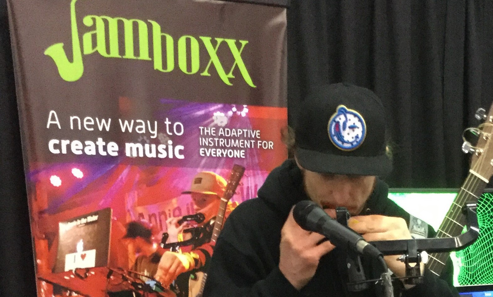 Brad Hester plays the Jamboxx at NAMM 2018