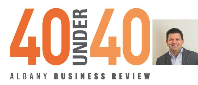 Mike DiCesare wins 40 under 40 award from Albany Business Review